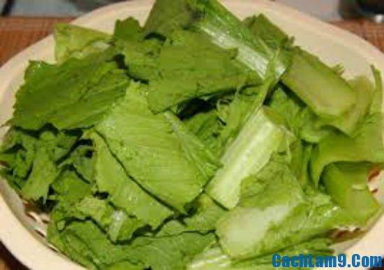 Hướng dẫn nấu canh rau cải với cua