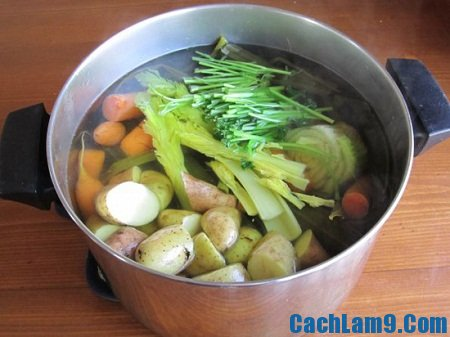 Cách nấu nước dùng món chay