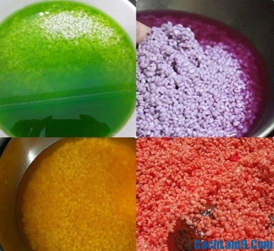 Các bước thực hiện chi tiết cách nấu xôi ngũ sắc thơm ngon tại nhà