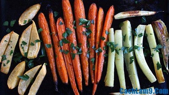 Cách nướng rau củ đúng cách