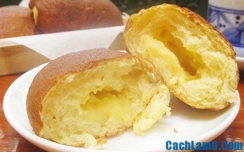 Cách làm bánh papparoti nhân kem trứng đơn giản