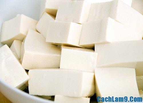 Nguyên liệu để thực hiện làm món đậu rán: Làm sao để rán đậu vàng ngon không dính chảo