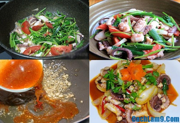 Cách làm bạch tuộc xào chua ngọt ngon: Làm bạch tuộc xào chua ngọt như thế nào?