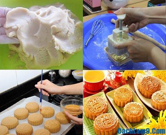 Làm bánh nướng nhân hạt sen như thế nào? Tự làm bánh nướng nhân hạt sen tại nhà cực dễ