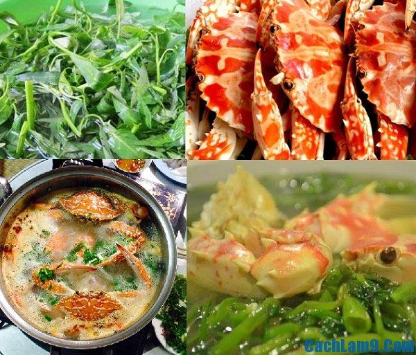 Hướng dẫn cách chế biến ghẹ nấu rau muống: Nấu canh ghẹ rau muống thơm ngon ngọt nước như thế nào?