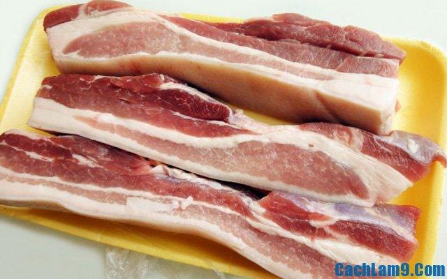 Chuẩn bị nguyên liệu làm thịt heo xóc tỏi ớt, chuan bi nguyen lieu lam thit heo xoc toi ot