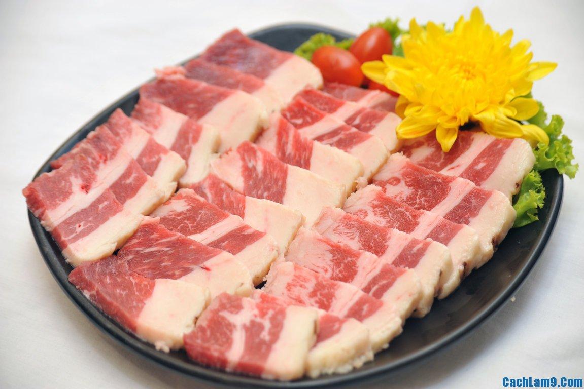 Sơ chế nguyên liệu làm thịt heo xóc tỏi ớt, so che nguyen lieu lam thit heo xoc toi ot