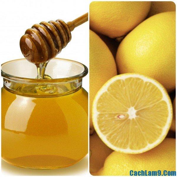 Trị thâm môi bằng chanh và mật ong, tri tham moi bang chanh va mat ong