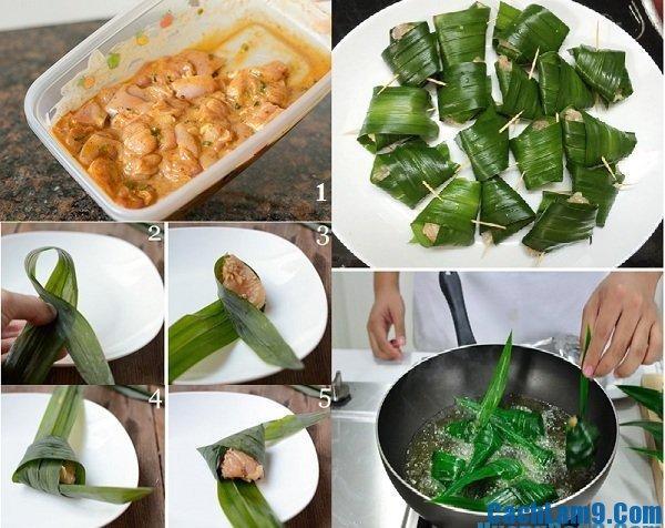 Hướng dẫn cách làm gà gói lá dứa ngon: Bí quyết làm gà gói lá dứa dai thơm tại nhà