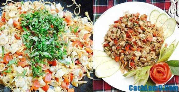 Hướng dẫn cách làm ngao xào sả ớtdễ dàng và đơn giản quy trình và cách làm làm món ngao xào sả ớt
