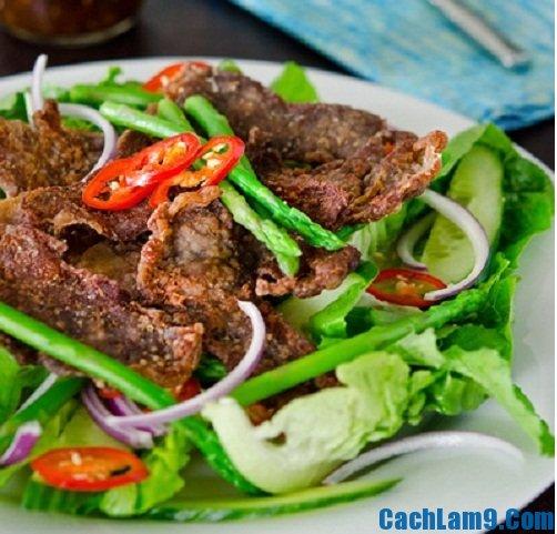 Cách làm salad bò khô kiểu Hàn ngon mê ly, đơn giản