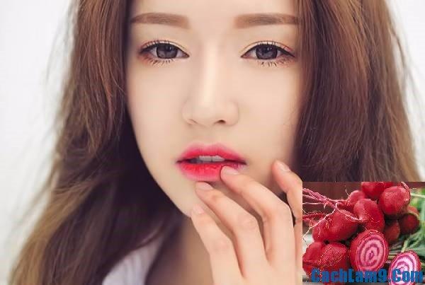 Cách làm son môi từ củ dền đơn giản, dễ làm nhanh nhất. Làm son môi từ củ dền như thế nào?