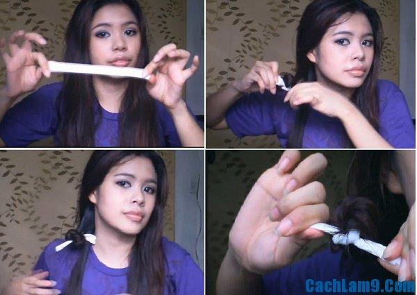 Hướng dẫn làm tóc xoăn bằng giấy ướt, các bước tự làm tóc xoăn với giấy ướt cực đơn giản tại nhà