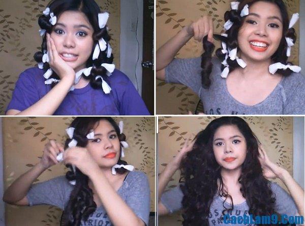 Hướng dẫn làm tóc xoăn bằng giấy ướt, làm tóc xoăn với giấy ướt như thế nào?