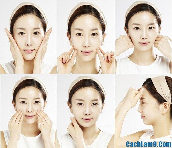 Hướng dẫn massage mặt giúp tạo khuôn mặt V-line, bí quyết và các bước massage mặt giúp tạo khuôn mặt V-line đơn giản, nhanh nhất