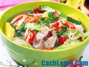 Cách nấu canh chua cá trê