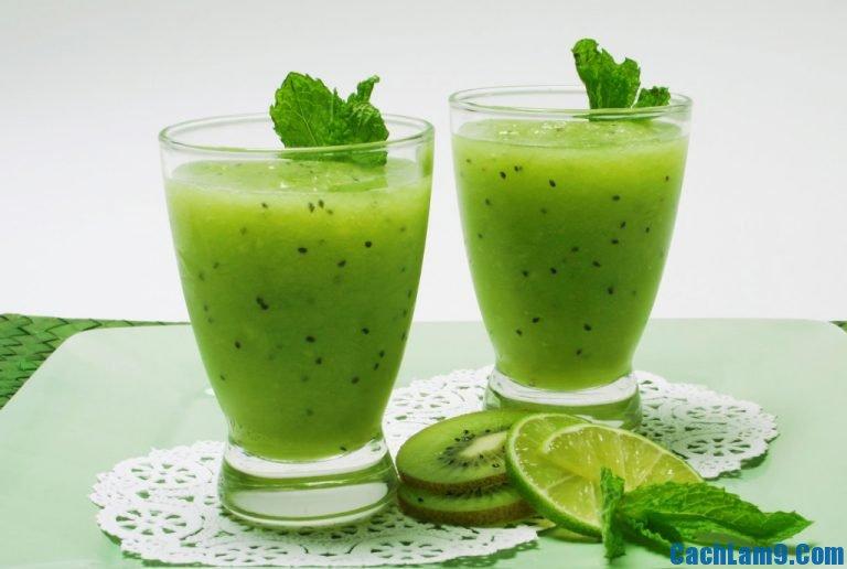 Cách pha chế sinh tố kiwi nho xanh, cach pha che sinh to kiwi nho xanh