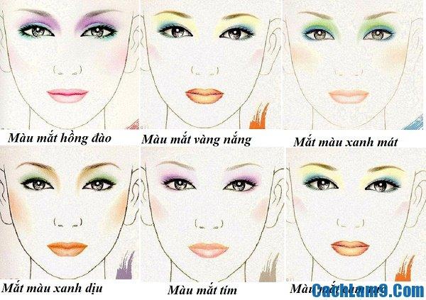 Hướng dẫn phối màu và trang điểm mắt, bí quyết và mẹo trang điểm, phối màu mắt cựcđơn giản dễ dàng đẹp mê ly