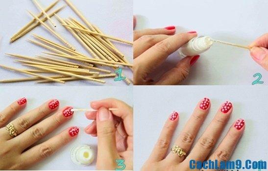 Hướng dẫn vẽ móng tay bằng tăm, mẹo và cách vẽ móng tay bằng tăm đơn giản, dễ thực hiện mà đẹp