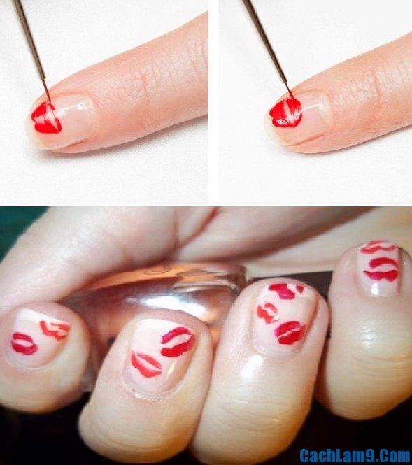 Cách vẽ nail hình môi, mẹo sơn móng tay hình môi son độc đáo, sành điệu và nhanh nhất