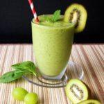 Thưởng thức sinh tố kiwi nho xanh, thuong thuc sinh to kiwi nho xanh