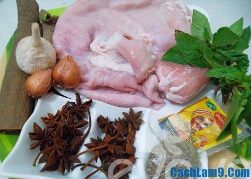 Nguyên liệu làm dạ dày quay ngũ vị: Bí quyết và công thức thực hiện làm món dạ dày quay ngũ vị