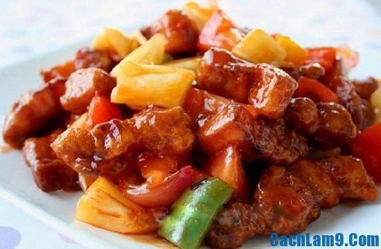 Thực hiện cách làm dạ dày sốt chua ngọt