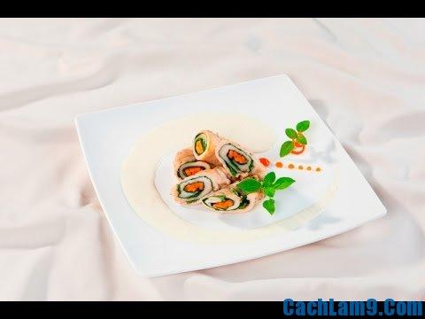 Cách làm gà cuộn cải bó xôi đút lò ngon lạ miệng