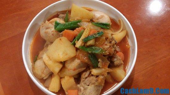 Cách làm gà om cay thơm ngon, ấm bụng