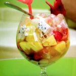 Cách làm hoa quả trộn cốt dừa