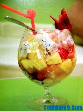 Cách làm hoa quả trộn cốt dừa ngon ơi là ngon