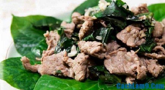 Cách làm thịt bò xào lá lốt thơm ngon đổi vị cho gia đình