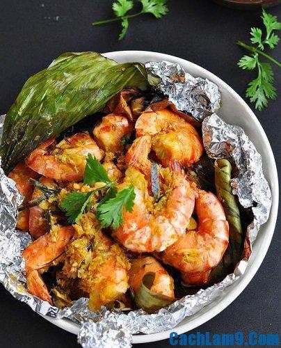 Thực hiện cách làm tôm nướng lá chuối: Công thức và bí quyết làm tôm nướng lá chuối