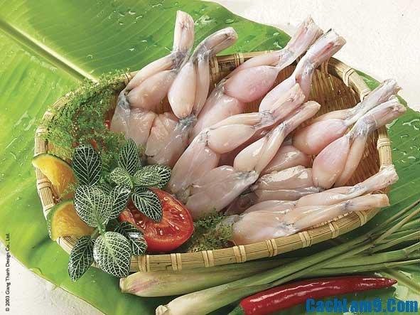 Nguyên liệu chuẩn bị làm ếch xào bông hẹ sa tế, hướng dẫn và bí quyết nấu món ếch xào bông hẹ sa tế tại nhà