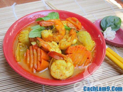 Cách nấu cà ri tôm, hướng dẫn nấu cà ri tôm ngon đơn giản tại nhà