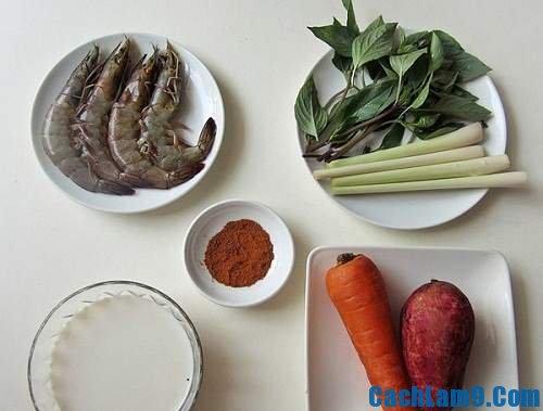 Nguyên liệu nấu cà ri tôm, quy trình và công thức nấu cà ri tôm thơm ngon hấp dẫn