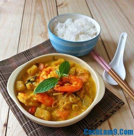 Cách nấu cà ri tôm thơm ngon tại nhà, hướng dẫn và kinh nghiệm nấu cà ri tôm đơn giản, dễ làm