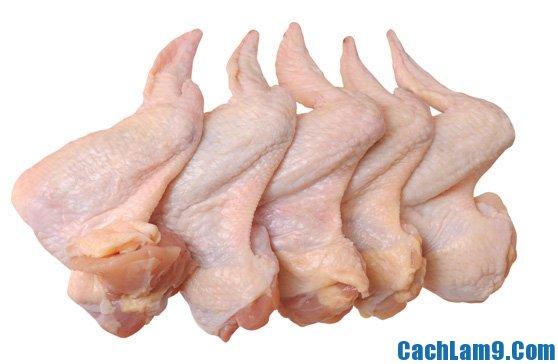 Nguyên liệu làm cánh gà nhồi nấm