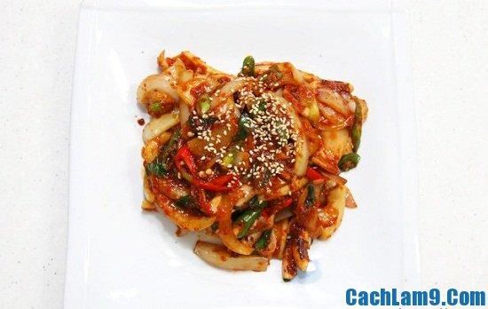 Cách làm mực xào cay Hàn Quốc ngon, đơn giản