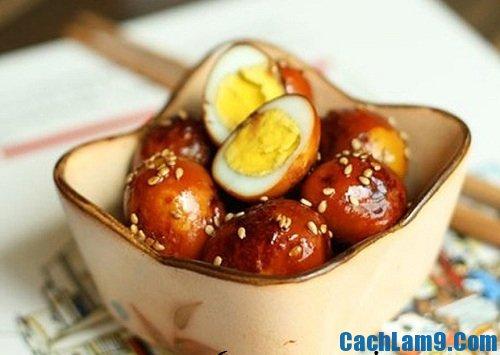 Cách làm trứng cút om nước tương thơm ngon, đẹp mắt, nấu món trứng cút om nước tương như thế nào?