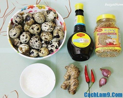Nguyên liệu, công thức và cách làm trứng cút om nước tương
