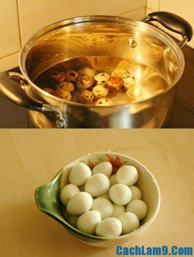 Hướng dẫn quy trình các bước tự làm trứng cút om nước tương