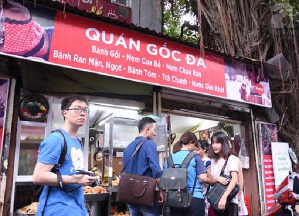 Địa chỉ ăn vặt ở Hà Nội: Bánh gối, bánh rán mặn Lý Quốc Sư