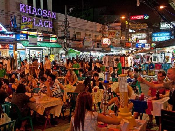 Địa điểm du lịch ở Bangkok Thái Lan. Phố Khao San. Địa điểm du lịch hấp dẫn ở Bangkok