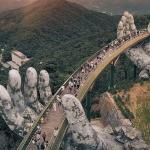 Địa điểm du lịch ở Đà Nẵng đẹp, nổi tiếng: Cầu Vàng Đà Nẵng là địa điểm tham quan mới, nổi tiếng