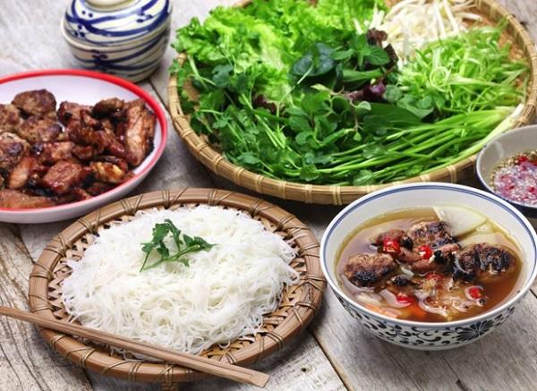Những món ăn ở Hà Nội. Bún chả. Món ăn nổi tiếng ở Hà Nội