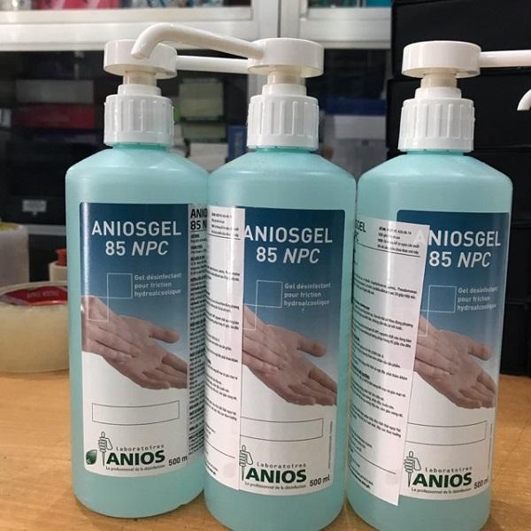 Nước tay tay khô, trong khi: nước tay tay Anios Gel