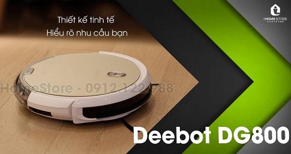 Rô bốt Robot lau và thông minh và sáng tạo hiện nay: Robot hút sạch lauov Ecovacs DG800
