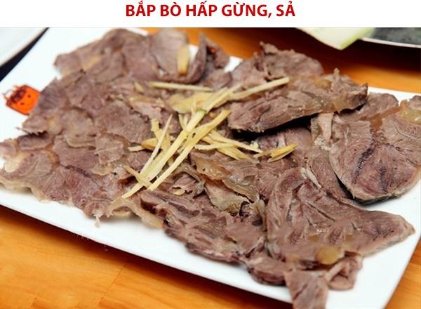 Cùng học công thức cách làm thịt bò hấp gừng sả đơn giản, ngon cơm